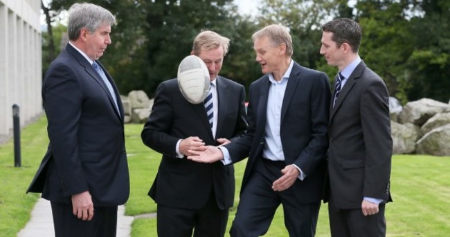 PICS: After his political wallop, Enda Kenny got an actual wallop with a ball today