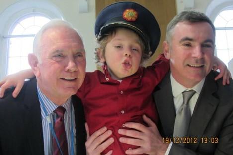 Philip, Adam and Aidan McCabe