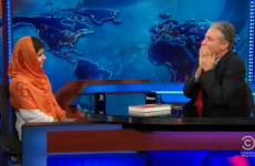 Malala Yousafzai on pacifism leaves Jon Stewart speechless