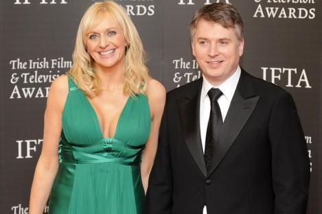 Steve Carson with his wife Miriam O'Callaghan.
