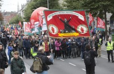 Anti-austerity march calls on unions to support ASTI