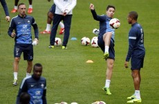Check out this outrageous rainbow flick by Franck Ribéry during a France training session