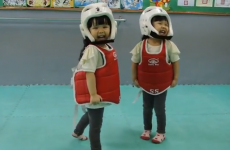WATCH: Tiny girls partake in the world's cutest Taekwondo fight