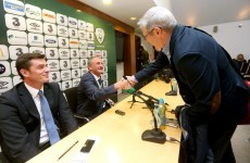 Peace in our time: Noel King and Tony O'Donoghue shake on it after tense interview