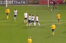 Ravel Morrison and Wilfried Zaha clash during England U21 game