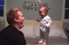 WATCH: This giggling balancing baby is simply adorable