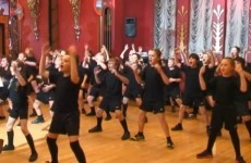 Schoolkids perform haka for New Zealand rugby league stars... before facing their response