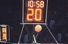 Brooklyn Nets mascot gets ball stuck in the shot clock after the worst dunk ever