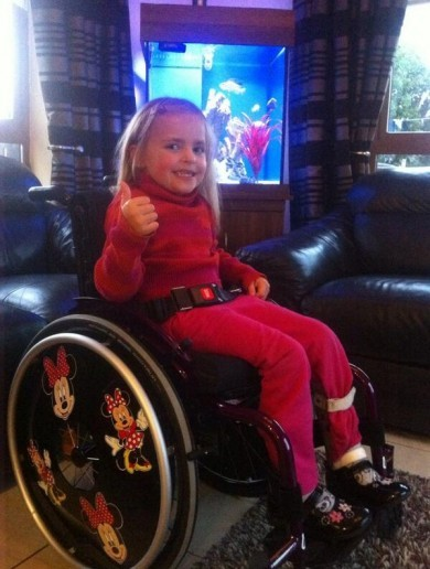 Good will messages and donations flood in for Lauryn Tracey whose wheelchair was stolen last week
