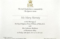 Royal family apologises over Harney wedding gaffe