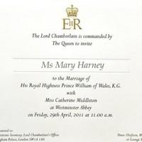 Royal family apologises over Harney wedding gaffe
