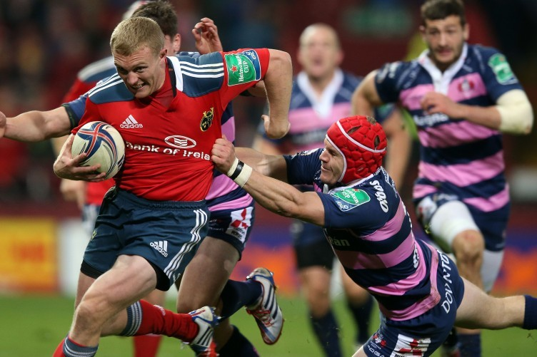 Keith Earls has another excellent game for Munster.