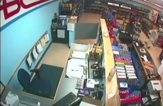WATCH: Ghost caught on camera robbing an off-licence