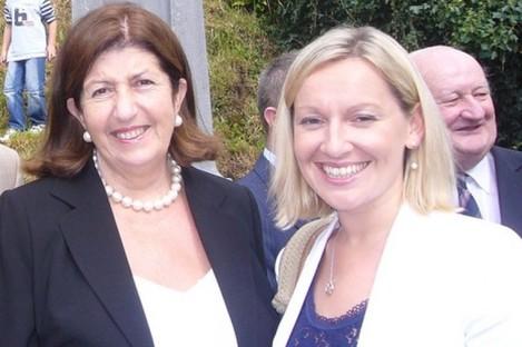 Edie Wynne with Lucinda Creighton in 2008