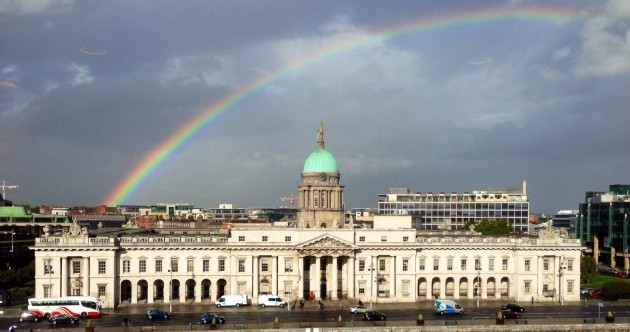 Rainbow over Dublin Pic of the Day