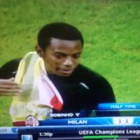 Snapshot: Robinho and Neymar swap shirts... at half time