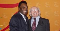 PICS: President Michael D Higgins meets Brazilian legend Pelé