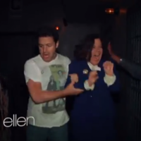 WATCH: Easily scared Ellen staffers go through Haunted House