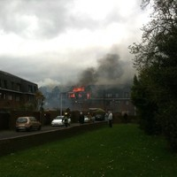 Traffic diversions in place after major Terenure house fire