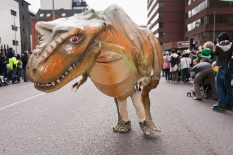 Walking with dinosaurs: Fota Wildlife Park joked that they had created dinosaur embryos for their new 'Prehistoric Park'
