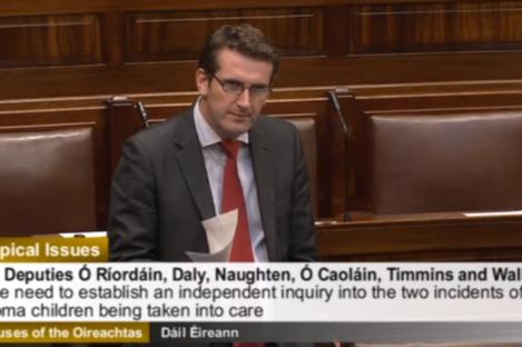 Aodáhin Ó'Ríordán in the Dail today.