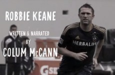 Irish author Colum McCann's moving ode to Robbie Keane