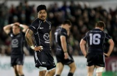 James So'oialo released by Connacht on compassionate grounds