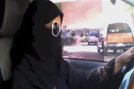 Saudi woman driving today.