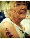Dublin woman celebrates her 80th birthday by getting a tattoo... of sweet peas