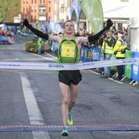 Irish winners of both the men's and women's Dublin City Marathon