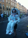 Cmdr. Hadfield thanked the guy who ran the Dublin Marathon dressed as him