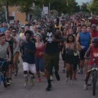 LeBron takes Miami on a leisurely triathlon on his way to training