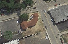 American church looks like a phallus on Google Maps