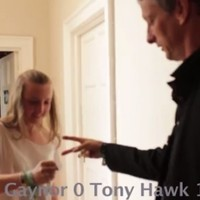 Tony Hawk got beat down by an Irish teenager in a game of rock, paper, scissors today
