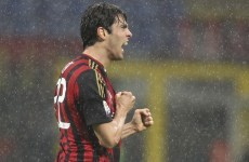 Kaka scores this cracker as Milan draw with Lazio