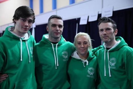 (From left to right) Des Leonard, Robbie McMenamy, Shauna Bannon, Mark McDermott.