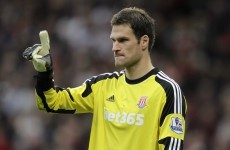 Stoke goalkeeper Begovic scores after 12 seconds from his own penalty area
