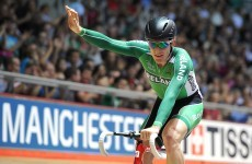 Ireland's Martyn Irvine wins gold at UCI Track Cycling World Cup