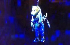 Denver Nuggets mascot passed out while being winched onto the court