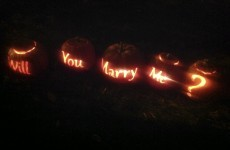 Here are the pumpkins a guy used to propose to his girlfriend