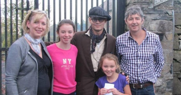 Johnny Depp was hanging around in Westmeath yesterday