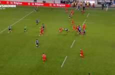 Video: French player sees red for this clothes line