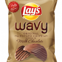 Chocolate-covered crisps are now a reality in the US