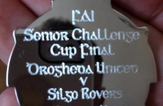Red faces as 'Silgo Rovers' mistake engraved on FAI Cup medals