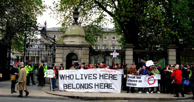 Protest outside Dáil calls for 'end to State racism'
