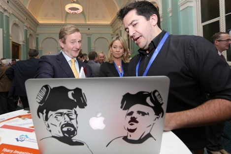 Enda Kenny appeared to see something rather odd on this Breaking Bad-themed MacBook during the week.