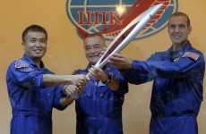The Russians have launched the Olympic torch into space