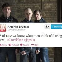 Tweet Sweeper: Amanda Brunker thinks Love/Hate is a documentary