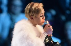 Miley Cyrus smoked a spliff on stage at the MTV EMAs last night