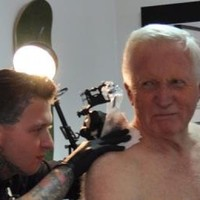 75-year-old BBC presenter gets a scorpion tattoo